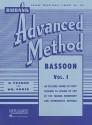 Rubank Advanced Method: Bassoon, Vol. I - H. Voxman, William Gowe