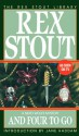 And Four to Go - Jane Haddam, Rex Stout