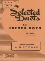 Selected Duets for French Horn: Volume 2 - Advanced (Rubank Educational Library) - H. Voxman