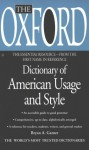 The Oxford Dictionary of American Usage and Style (Essential Resource Library) - Bryan A. Garner