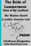 The Bride of Lammermoor - Tales of My Landlord - James Oliver Smith Jr., Walter Scott