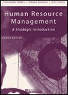 Human Resource Management: A Strategic Introduction - Christopher Mabey, Graeme Salaman, John Storey