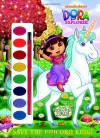 Save the Unicorn King! (Dora the Explorer) (Paint Box Book) - Golden Books, Victoria Miller