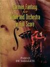 Carmen Fantasy for Violin and Orchestra in Full Score - Pablo de Sarasate