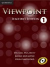 Viewpoint Level 1 Teacher's Edition with Assessment Audio CD/CD-ROM - Michael McCarthy, Jeanne McCarten, Helen Sandiford