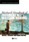 Blackwell Handbook of Judgment and Decision Making - Derek J. Koehler, Nigel Harvey