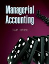 Managerial Accounting - M. Suzanne Oliver, Charles T. Horngren