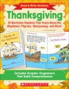 Read & Write Booklets: Thanksgiving: 10 Nonfiction Booklets That Teach About the Mayflower, Pilgrims, Wampanoag, and More! - Alyse Sweeney