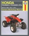 Haynes Honda Trx300ex 1993 Thru 1999 Trx400ex 1999 - Motorbooks International, Mike Stubblefield