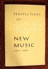Perspectives Of New Music Fall 1962 - Ernst Krenek, Karlheinz Stockhausen, Milton Babbitt, David Lewin, Paul Fromm, Edward T. Cone, Charles Rosen, Eliott Carter, Arthur Berger