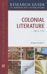 Colonial Literature, 1607-1776 - Benjamin Franklin, V.