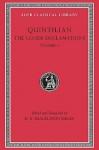 The Lesser Declamations, I - Marcus Fabius Quintilianus, D.R. Shackleton Bailey