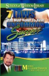School of Wisdom Series: 7 Laws You Must Honor To Have Uncommon Success (Master 7 Mentorship Program-B294) - Mike Murdock