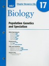 Holt Chapter Resource Fie #17 Biology: Population Genetics And Speciation 2008 - Rheinhart And Winston Holt