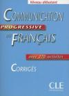 Communication Progressive Du Francais Corriges, Niveau Debutant - Claire Miquel