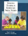 Effective Teaching in Elementary Social Studies - Tom V. Savage, David G. Armstrong
