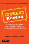 Instant Korean: How to Express 1,000 Different Ideas with Just 100 Key Words and Phrases! (Korean Phrasebook) (Instant Phrasebook Series) - Boyé Lafayette de Mente
