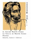 El gaucho Martín Fierro / La vuelta de Martín Fierro / Ensayos, cartas y críticas - José Hernández