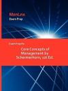 Exam Prep for Core Concepts of Management by Schermerhorn, 1st Ed - John R. Schermerhorn Jr.