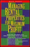Managing Rental Properties for Maximum Profit - Greg M. Perry