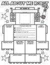 Graphic Organizer Posters: All-About-Me Robot (Grades K-2): 30 Fill-in Personal Posters for Kids to Display with Pride - Liza Charlesworth