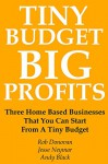 TINY BUDGET, BIG PROFITS: Three Home Based Businesses That You Can Start From A Tiny Budget - Andy Black
