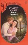 Love Letters (Silhouette Desire, No. 207) - Elaine Camp