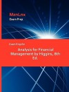 Exam Prep for Analysis for Financial Management by Higgins, 8th Ed - Chris Higgins