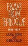 "Essays From ""Epilogue,"" 1935 1937 - Robert Graves, Mark Jacobs"