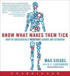 Know What Makes Them Tick - Max Siegel, G.F. Lichtenberg, Clifton Duncan