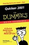 Quicken 2001 for Dummies Quick - Peter Weverka