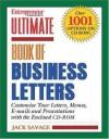 Ulimate Book of Business Letters (Entrepreneur Magazine's Ultimate Books) - Cheryl Kimball, van Gelder, Joni