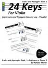24 Keys Scales And Arpeggios For Violin - Book 1 - Richard Moran