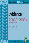 Evidence: Q & A Series (Q & a Series) - Christopher Allen