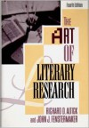 The Art of Literary Research (Fourth Edition) - Richard D. Altick, John J. Fenstermaker