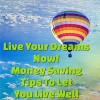 Live Your Dreams Now! Money Saving Tips To Let You Live Well! - C.F. Farley