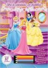 Disney Princesa Libro de Actividades Con Plantillas [With Stickers and 4 Colored Pencils and Stencils] - Silver Dolphin En Espanol