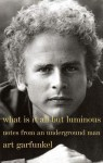 What Is It All but Luminous: Notes from an Underground Man - Art Garfunkel