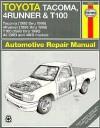 Toyota Tacoma, 4Runner & T100 automotive repair manual - Haynes Publishing, Mike Stubblefield, John Harold Haynes