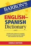 BARRONS ENGLISH SPANISH DICTIONARY (Spanish Edition) - Barron