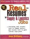 Real Resumes For Supply & Logistics Jobs - Anne McKinney