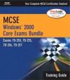 MCSE Windows 2000 Core Exams Training Guide Bundle (Exams 70-210, 70-215, 70-216, 70-217) - Marione, Development Que Development, Que Corporation