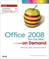 Office 2008 for the Mac on Demand - Steve Johnson, Perspection Inc.