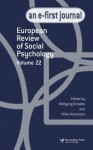 European Review of Social Psychology: Volume 22 - Wolfgang Stroebe, Miles Hewstone