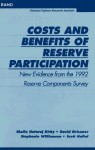 Costs and Benefits of Reserve Participation: New Evidence from the 1992 Reserve Components Survey - Sheila Kirby