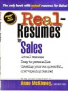 Real-Resumes for Sales (Real-Resumes Series) - Anne McKinney