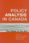 Policy Analysis in Canada: The State of the Art - Laurent Dobuzinskis
