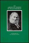 An American Primer: With Facsimiles of the Original Manuscript - Walt Whitman, Gay Wilson Allen