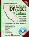 How to Do Your Own Divorce in California: Out-Of-Court Divorce, a Complete Kit - Ed Sherman