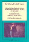 El Papel del Trabajo en la Transformación del Mono en Hombre; Manifiesto del Partido Comunista; Ideología Alemana - Frederich Engels, Karl Marx